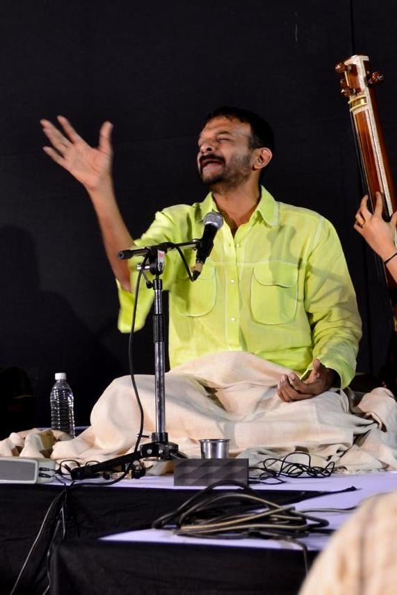 Sri. T M Krishna, has the crowd spellbound with his carnatic music.
