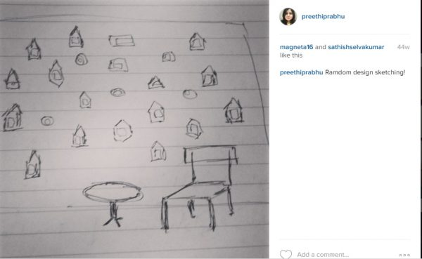 Instagram feed of a poor sketch