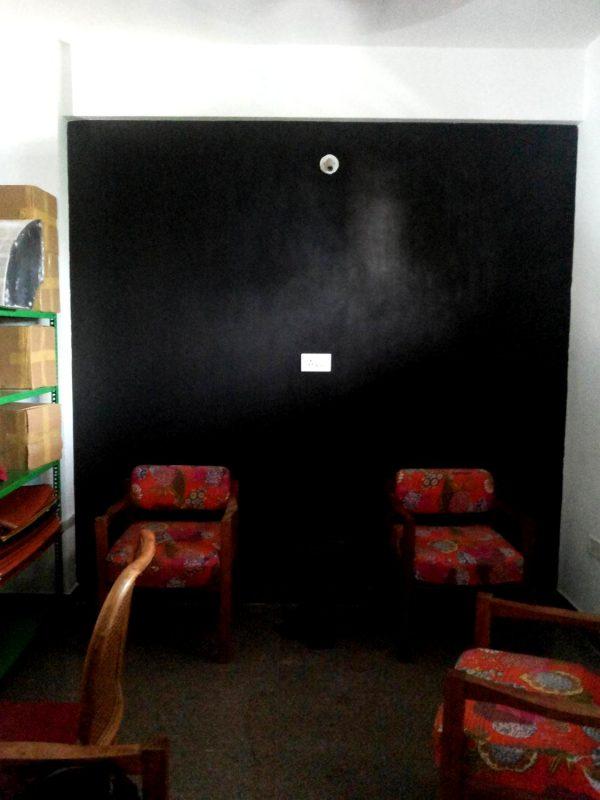 The black board wall
