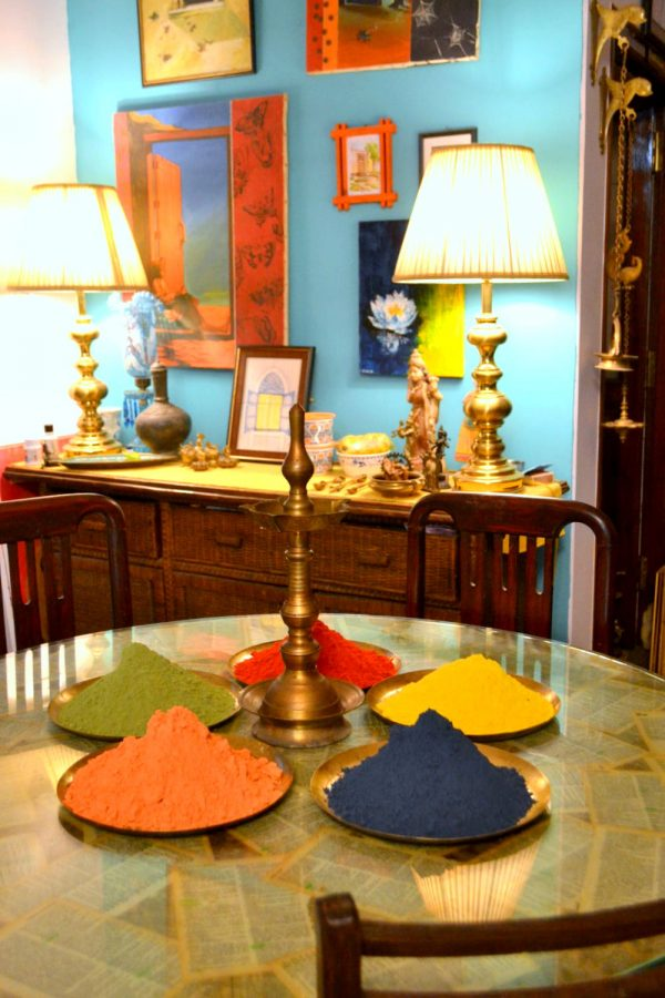 The colors of holi in my very colorful dining space