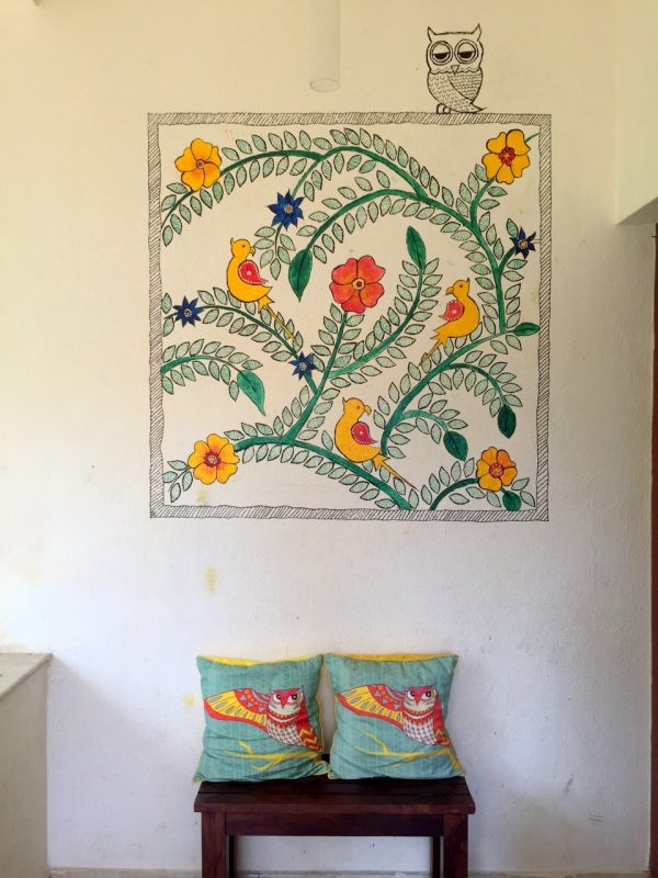 The final look - DIY Madhubani Inspired Mural