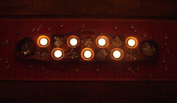 Diwali Decor ideas - a traditional board game into a decor accessory