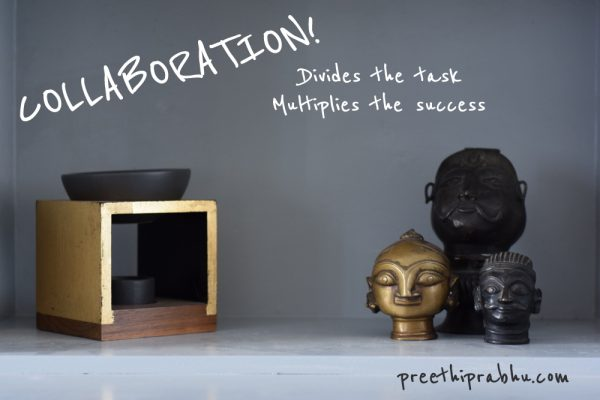 Collaboration divides the tasks multiplies the success