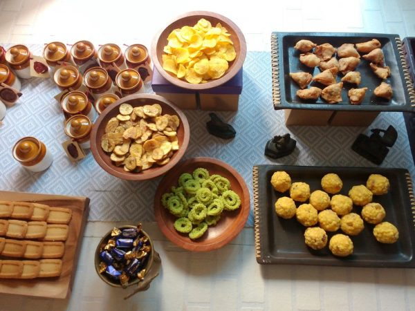 The snack bar at the Dasara Open house