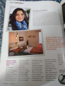 preethi prabhu features on Better homes and gardens magazine