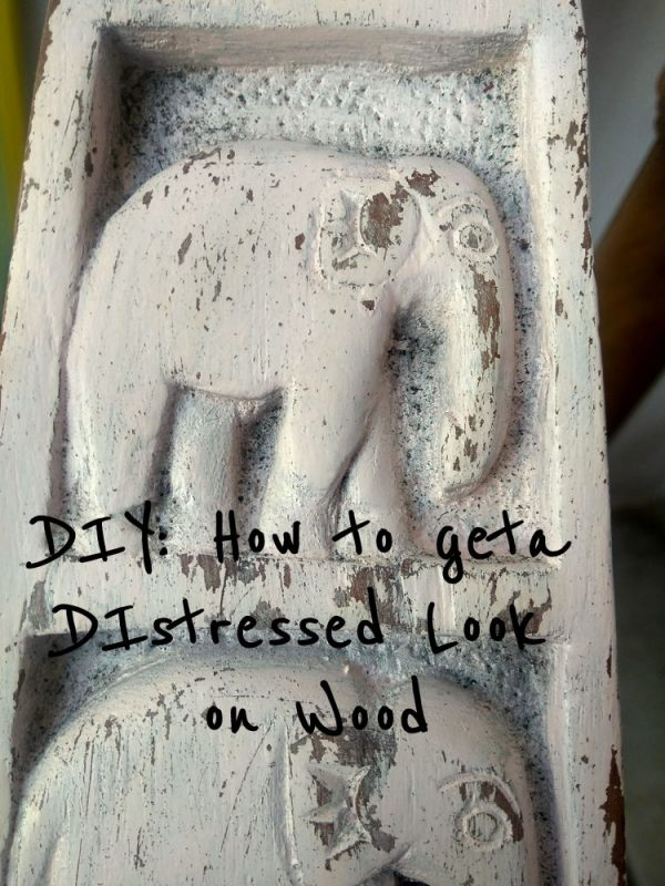 How to get a distressed Look using Paint.