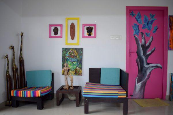 Home of artist Girija Hariharan.