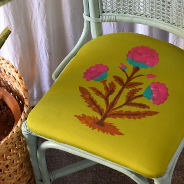 DIY Multicolour Stencil Printing on Fabric using Fevicryl Fabric Colours