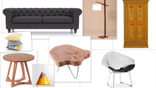 Mood Board with grey sofa