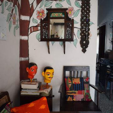 Madhubani Tree of Life & Block Print Wall Makeover