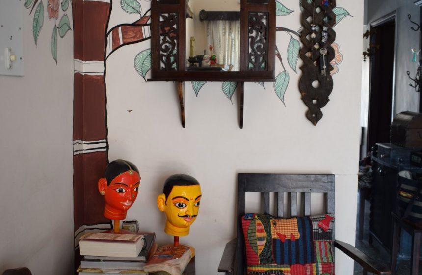 Madhubani Tree of Life & Block Print Wall Makeover