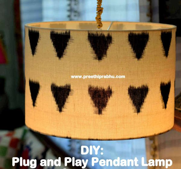 DIY: Plug and Play Pendant Lamp