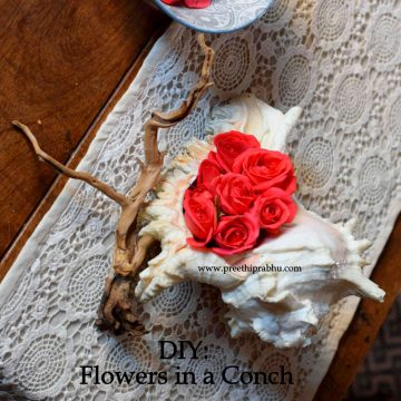 DIY – Flower Arrangement in a Conch