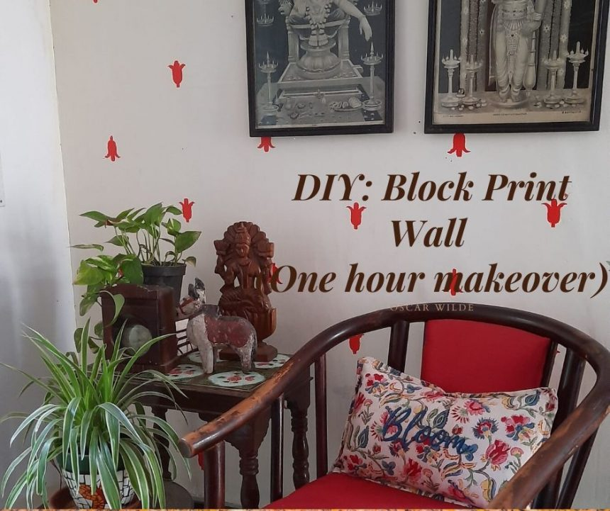 DIY – Block Print Wall (The Viral Quarantine DIY)