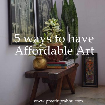 5 ways to have Affordable Art
