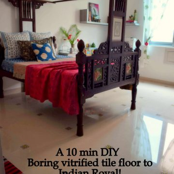 DIY – 10 minutes floor makeover (Renter Friendly)