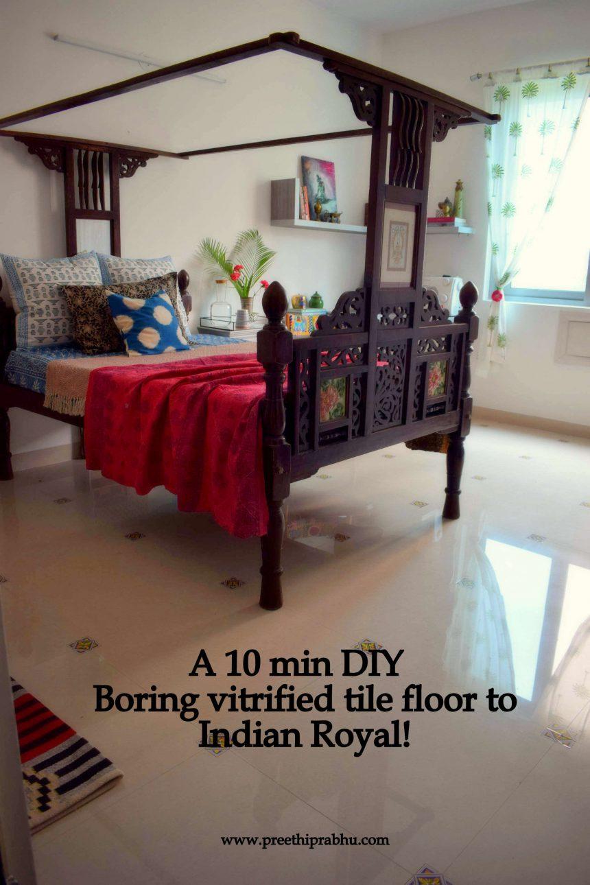 DIY – 10 minutes floor makeover (Renter Friendly)